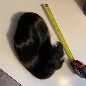 Beautiful Black Natural looking Fall hairpiece